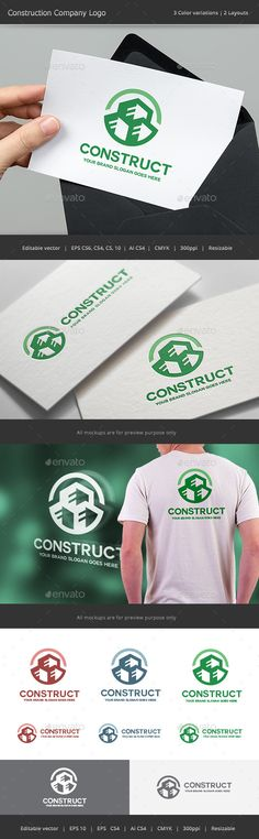 Construction Company Logo — Vector EPS #build #building • Available here → https://graphicriver.net/item/construction-company-logo/14351846?ref=pxcr