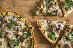 Pizza pita express à la saucisse Pizza Sans Gluten, Pain Pita, Vegetable Pizza, Lunch, Snacks, Vegetables, Cooking, Food, Pains