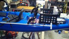 My rigged fishing kayak.