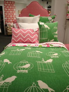 Eastern Accents bird cage fabric/bedding! #hpmkt