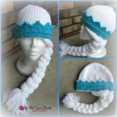 Free Crochet Patterns For Elsa Hats : Crochet for kids on Pinterest Elsa, Elsa Frozen and ...