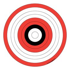 Red, White & Black Printable Target