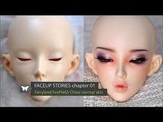 Nicolle dream face ups Polymer Clay Sculptures, Polymer Clay Dolls, Mermaid Gifs, Eyelashes Tutorial, Art Doll Tutorial, Liv Dolls, Doll Making Tutorials, Doll Painting, Doll Repaint