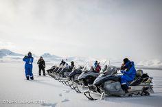 Snowmobile lineup, Spitzbergen