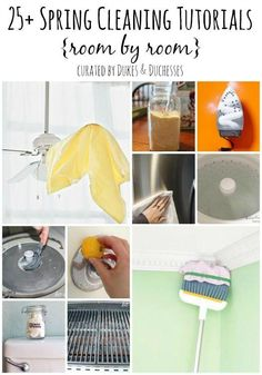 25+ Spring Cleaning Tutorials {Room by Room}