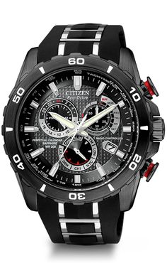 Citizen Eco-Drive Perpetual Chrono A-T AT4027-06E Atomic Timekeeping