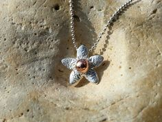 Sterling Silver and Copper Flower Pendant by SilverbirdDesignsUK, £25.00