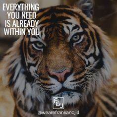 Everything you need is already within you. Tap into your True Self and True Power.  Double tap if you agree and tag someone who needs to see this. follow us @wearefrankandjill