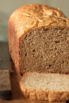 100% Whole Wheat Bread for the Bread Machine Recipe - love this with 1/8 cup flax and 1/8 cup sunflower seeds