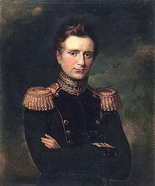 Michael Pavlovich of Russia (1798 - 1849). Son of Paul I and Sophie Dorothea of Württemberg. He married Elena Pavlovna of Wurttemburg and had two surviving daughters.