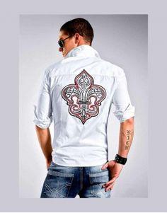 Koszula męska - John Davis #mensshirt #koszula #fashioneda
