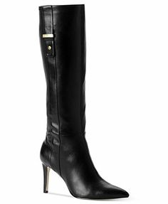 Calvin Klein Women's Bellita Wide Calf Boots.  A beautiful dress boot that, when paired with black tights and skirt, will lengthen and slim the leg.  Also great under black dress pants.