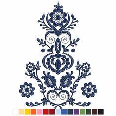 Polish Embroidery, Hungarian Embroidery, Folk Embroidery, Ribbon Embroidery, Embroidery Patterns, Swedish Tattoo, Hungarian Tattoo, Polish Folk Art, Sewing Courses