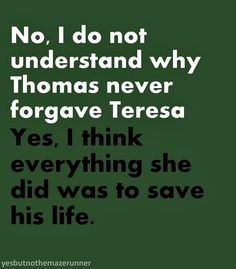 The Maze Runner trilogy.....I get that she was trying to save him. But Thomas was dealing with the psychological problems that came along with it. You can't suddenly go back to the way things were when the girl you thought you loved tortured you then pretended nothing happened! And there is my rant.