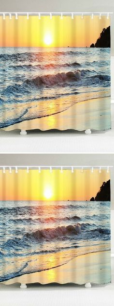 Window Ocean Print Fabric Bathroom Shower Curtain | Decorative items ...