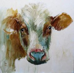 Theo Onnes side look Cow Paintings On Canvas, Farm Paintings, Animal Paintings, Canvas Art, Deer Pictures, Cow Art, Ouvrages D'art, Art Et Illustration, Watercolor Animals