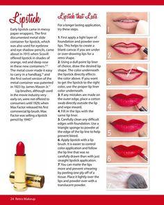 """retro-looking"" lipstick application to last"