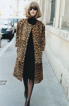 : 14 Images of Leopard Print at Home & in the Closet Self Service Magazine Fall/Winter 2003 / leopard coatSelf Service Magazine Fall/Winter 2003 / leopard coat Fashion Mode, Fashion Week, Winter Fashion, Womens Fashion, 1950s Fashion, Fashion Boots, Street Fashion, Animal Print Fashion, Fashion Prints