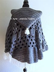 Ravelry: PATR1032 - Poncho with sleeves and large hood pattern by Jolanda Faazen