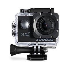 "WIFI Action Camera, SOOCOO Waterproof Action Camera 12MP Full HD 1080P - 2.0"" LCD Screen, 170° Wide Angle Lens, 30M/98ft Underwater Diving Camera with 2 Batteries - Black ( Memory Card Not Included)"