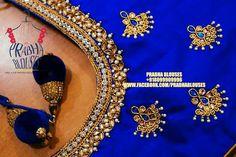 Best Blouse Designs, Simple Blouse Designs, Bridal Blouse Designs, Simple Embroidery Designs, Embroidery Works, Magam Work Blouses, Hand Work Design, Maggam Work Designs, Pattu Saree Blouse Designs