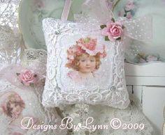 Image detail for -Vintage Lace Victorian Lady Sachet Pillow 5090 Lace Patchwork Original ...