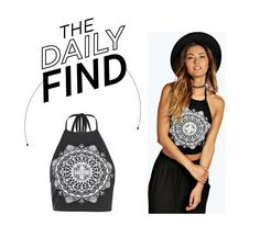 """Daily Find: Boohoo Halter Crop Top"" by polyvore-editorial ❤ liked on Polyvore featuring Boohoo and DailyFind"