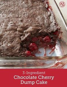 Chocolate Cherry Dump Cake This simple dump cake results in an addictive chocolate-cherry combo that is best served warm and with a scoop of vanilla ice cream. If you weren't a chocolate-cherry fan before, you will be after tasting this cake. Dump Cake Recipes, Dessert Recipes, Dump Cakes, Nutella Recipes, Chocolate Cherry Dump Cake, Chocolate Cake With Cherry Pie Filling Recipe, Dessert Chocolate, Chocolate Cakes, Decadent Chocolate