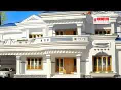 Settings - YouTube House Front Wall Design, Single Floor House Design, House Outside Design, House Ceiling Design, 4 Bedroom House Designs, Bungalow House Design, Duplex House, Beautiful House Plans, Simple House Plans