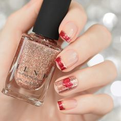 Valentine's Day Nail Art using ILNP UItra Metallics, Juliette and Cherry Luxe!!