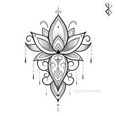 🔴Ideias Minimalistas! . 👉Siga Mandala Tattoo Design, Dotwork Tattoo Mandala, Flower Tattoo Designs, Henna Designs, Flower Tattoos, Mandala Tattoo Back, Floral Mandala Tattoo, Tattoo Sketches, Tattoo Drawings