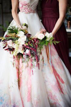 Watercolor Wedding Inspo in Copper, Blush & Serenity Wedding Events, Wedding Gowns, Wedding Day, Wedding Flowers, Wedding Bouquets, Red Wedding, Wedding Things, Wedding Bride, Wedding Decor