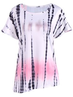 Summer Ink Painting Print Ombre Blouse #shoes, #jewelry, #women, #men, #hats, #watches