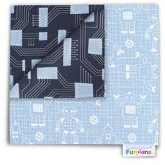 Funkins - Cloth Napkin - Light Blue Techno Eco Kids, Cloth Napkins, Techno, Light Blue, Crafty, Techno Music, Pastel Blue