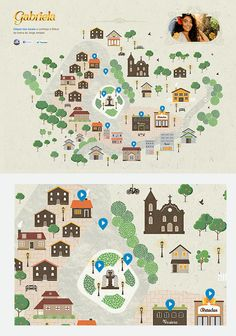 Illustration, design and development - Ilhéus' city map - Rede Globo