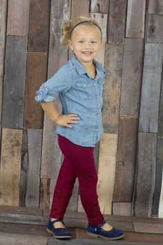 Lace Detail Legging (Toddler, Little Girls,