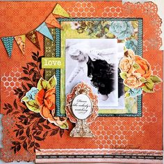 DT work with Kaisercraft - Marigold range. Scrapbook Layouts, Scrapbook Pages, Marigold, Scrapbooks, Memories, Dance, Activities, Frame, Cards