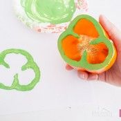 Use A Bell Pepper As A Shamrock Stamp. Cute kids activity for St. Patrick's Day.