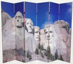 Mount Rushmore photograph on a six panel room divider folding screen Informations About 6 ft. Tall Double Sided Monuments Canvas Room Divider - Rushmore/Grand Canyon 6 Panel Pin You can easily use my Room Divider Headboard, Room Divider Shelves, Metal Room Divider, Small Room Divider, Divider Cabinet, Bamboo Room Divider, Living Room Divider, Room Divider Walls, Hanging Room Dividers