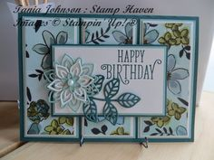 Beautiful Share What You Love Panel Card featuring all Stampin' Up! products #sharewhatyoulove #stampinup #loveitchopit