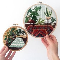 the beautiful embroidery of Albany based artist Sarah Benning