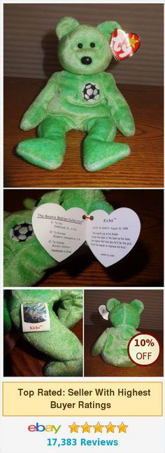 TY Beanie Baby Kicks Soccer Bear Mint Green PE Pellets 1999 MINT - JB | #ebay #ty @jboock http://www.ebay.com/itm/TY-Beanie-Baby-Kicks-Soccer-Bear-Mint-Green-PE-Pellets-1999-MINT-JB-/252670394727?hash=item3ad4544167