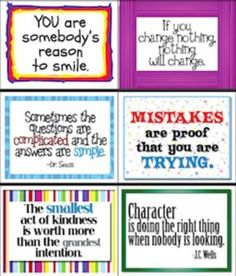 63 Inspirational Signs for Classroom in Color & Black & White: