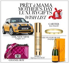 Pret a Mama Luxury #Gifts WishList! For all moms who love high-end luxury we have selected a serious wishlist. These presents might be over the top, but maybe you are lucky this Mother's Day. To inspire all generous daddies we have rounded up our favorite luxury gifts @ http://www.pretamama.com/lifestyle/6708-prt--mama-luxury-gifts-wishlist #pretamama