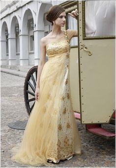 colored wedding dress.