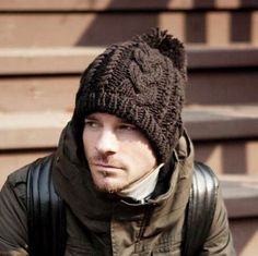 Hairball knit hats for men winter beanie hats