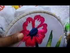 hand embroidery-detached button hole stitch-leisha's galaxy. - YouTube