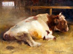 """jesuisperdu: """"bofransson: """" Helene Schjerfbeck, Resting Young Bull """""""
