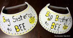 Make your own Big Brother and Big Sister to Be (bee) visors!
