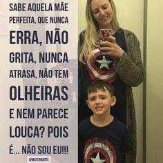 """Não sou perfeita mas sou a """"Capitona América"""" como diz o Theo!!!! #Materniarte"""